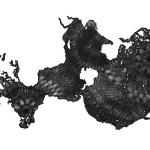 Okeanos (Deepest Points), 2015. Lápiz sobre papel. 150 x 120 cm