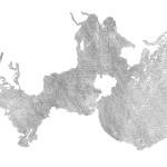 Okeanos (Lace), 2015. Tinta sobre papel. 100 x 70 cm